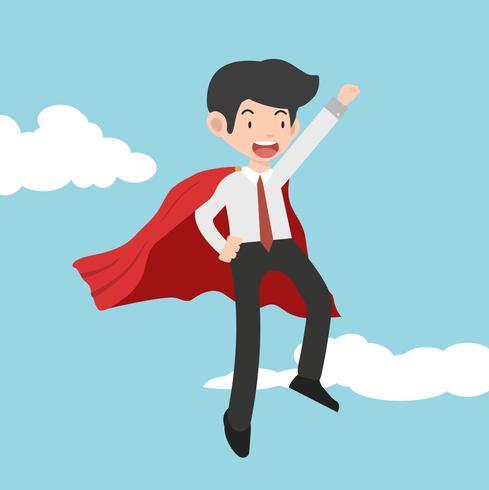Caricature de concept super homme d'affaires vecteur