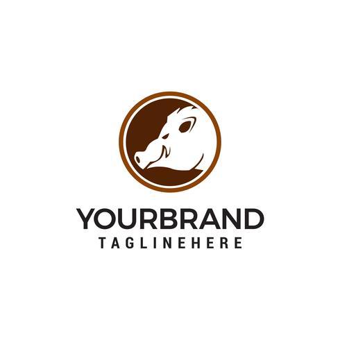 pig logo design concept template vector