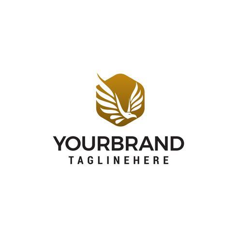 adelaar zeshoek logo ontwerp concept sjabloon vector