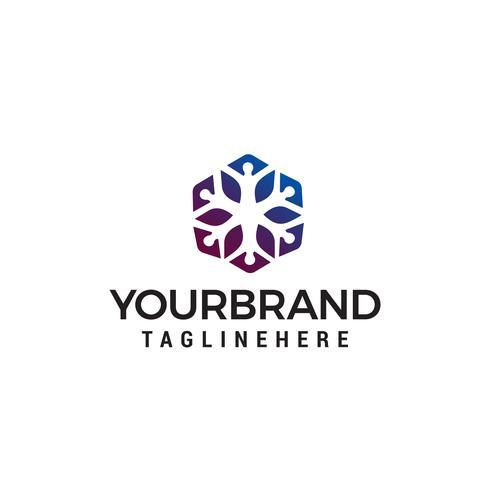 Människor community logo design koncept mall vektor