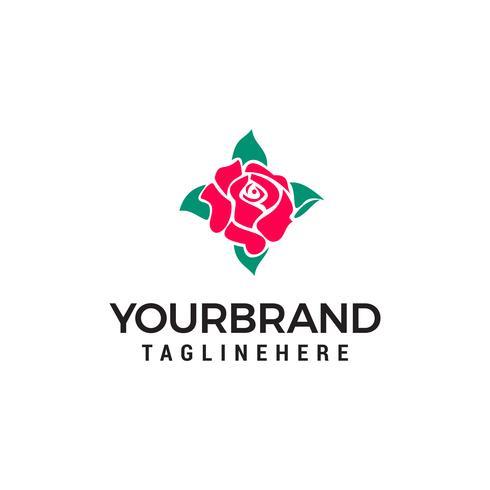 schoonheid roos logo ontwerp concept sjabloon vector