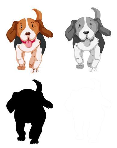 Set di caratteri cane beagle