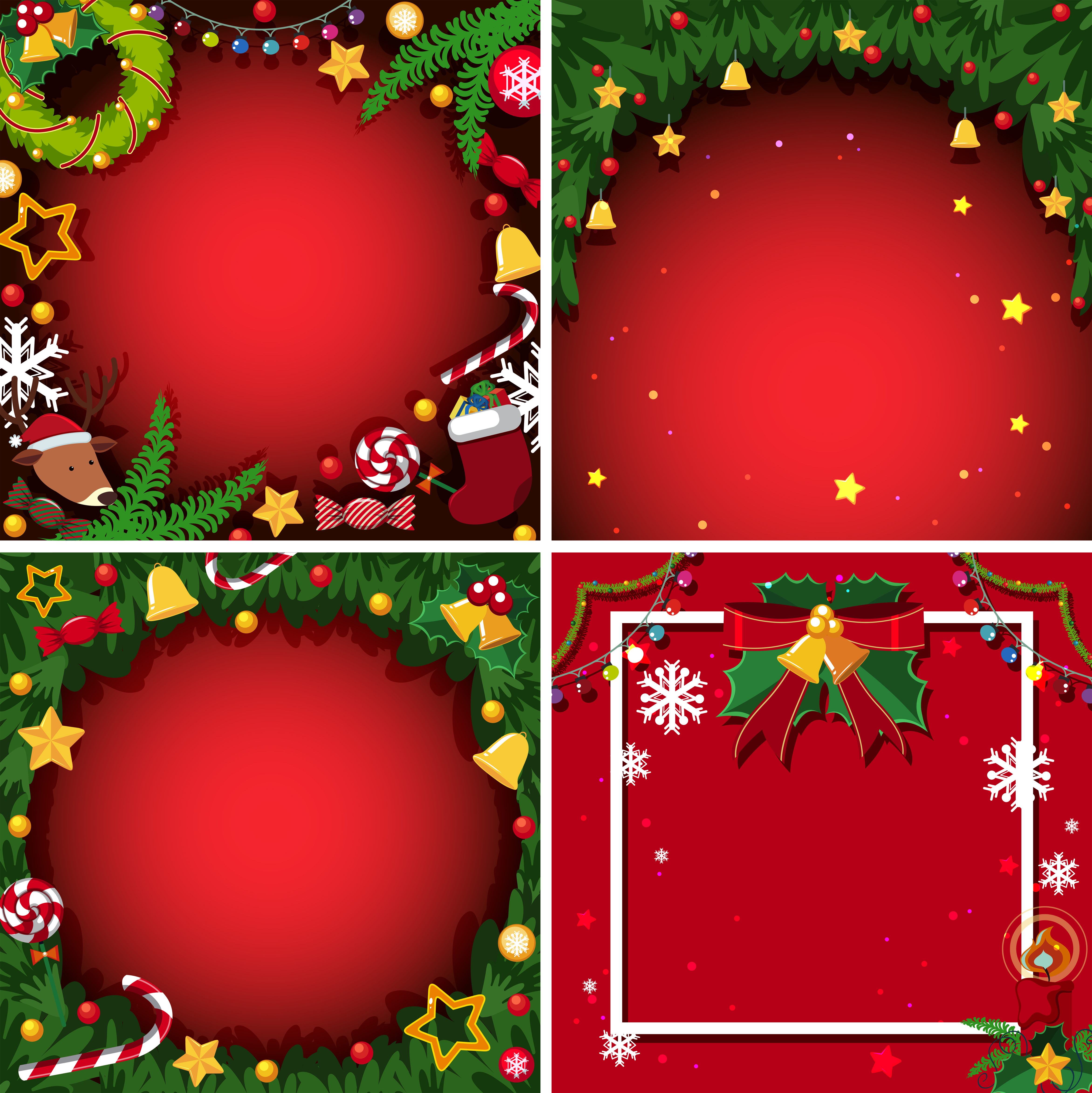 Four background with christmas theme 591037 - Download ...