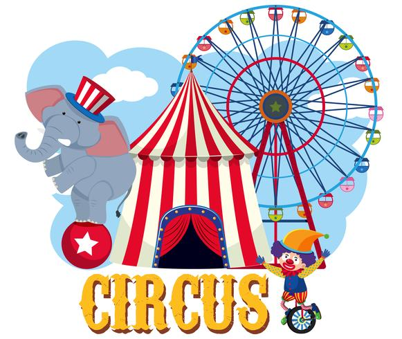 Circus Element on White Background vector