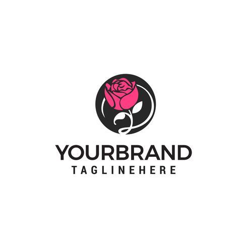 Flor spa cosméticos logotipo design conceito modelo vector