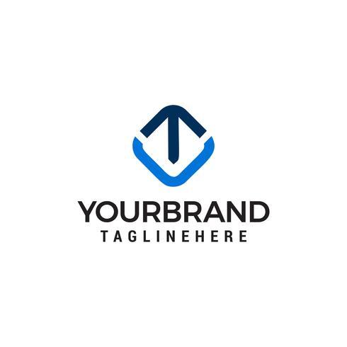 pijlsymbool logo ontwerp concept sjabloon vector