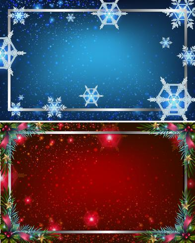 Two background templates with blue and red colors