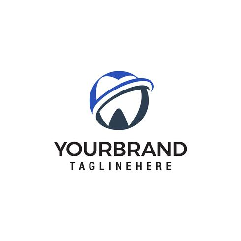 Zahnpflege Logo Design Konzept Vorlage Vektor