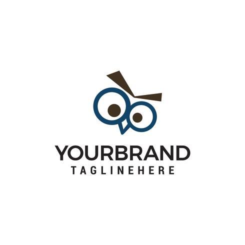 hibou yeux logo design concept template vecteur