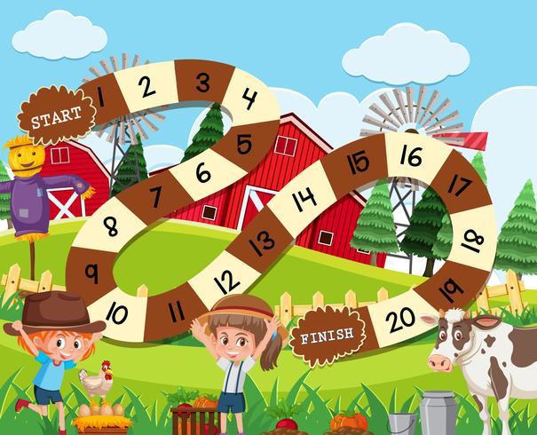 Un modello di gioco da tavolo rurale