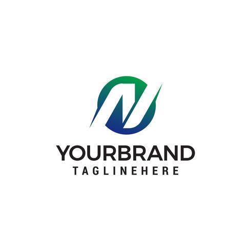 lettre n logo design concept template vecteur