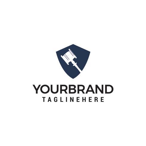 martelo juiz logotipo design conceito modelo vector