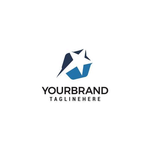 vector de plantilla de concepto de diseño de logotipo estrella rápida
