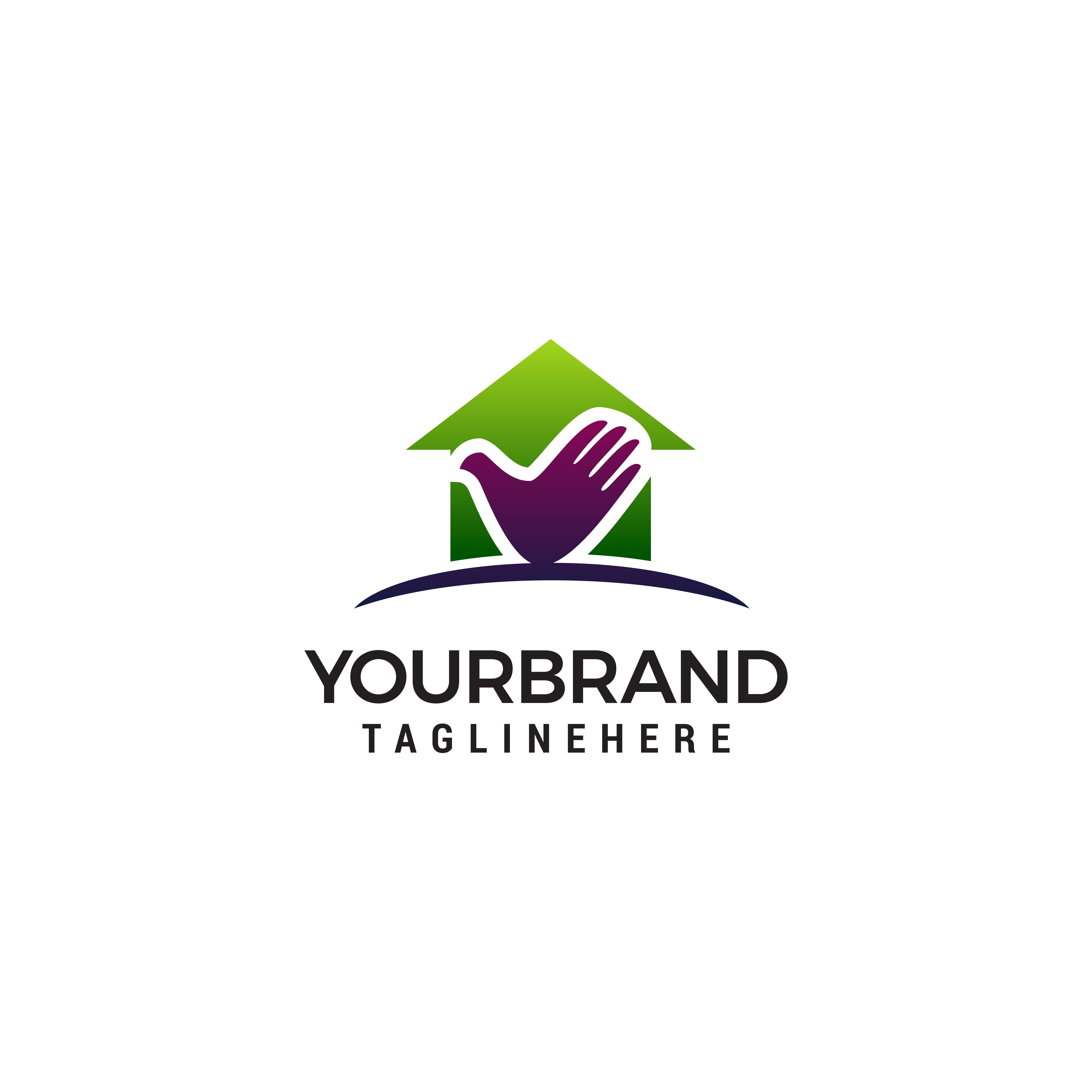 Home Care Logo Design Concept Template Vector