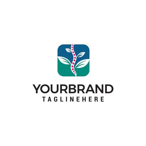 Vector de plantilla de concepto de diseño de logotipo natural quiropráctica
