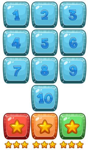 Número y símbolo de juego. vector