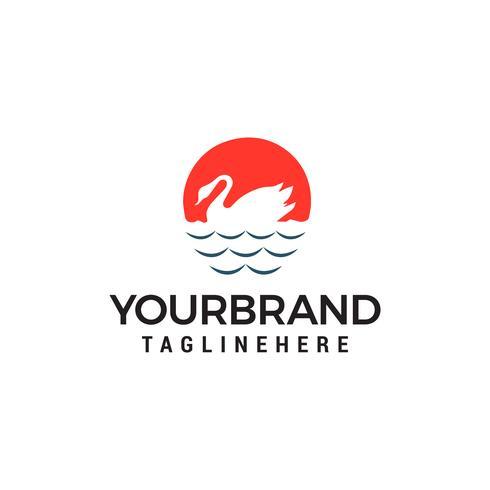 zwaan logo ontwerp concept sjabloon vector