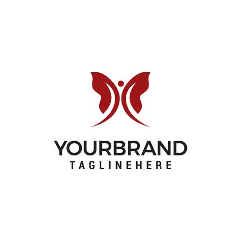 Butterfly logo design concept