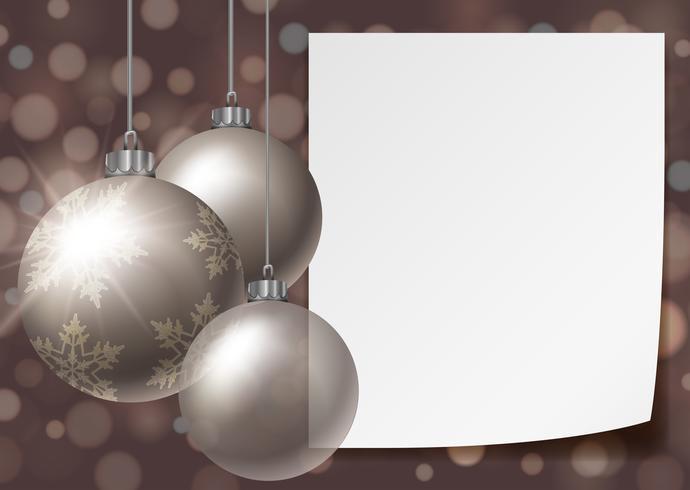 Hintergrundschablone mit Weihnachtsbällen