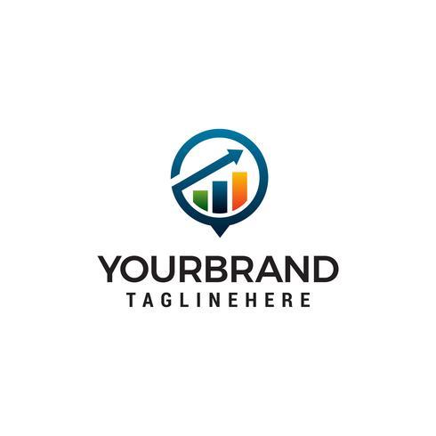 Flecha financiera crecimiento logo diseño concepto plantilla vector