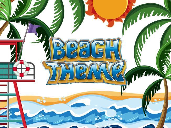 Beach Theme element scen