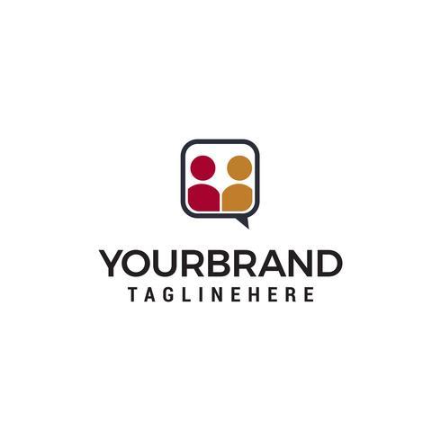 chat gens logo design concept template vecteur