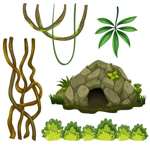 Un conjunto de cueva natural. vector