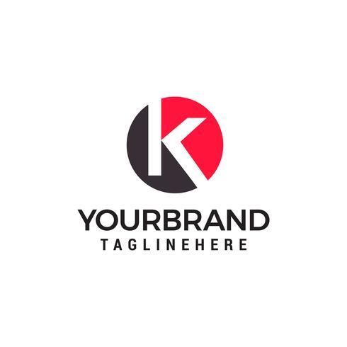 lettera k logo design concetto modello vettoriale