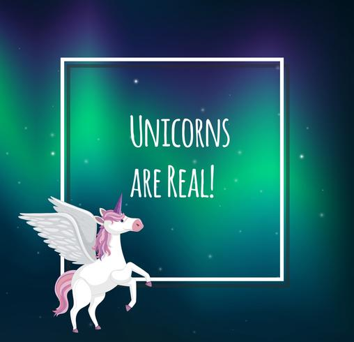 Carino pastello Unicorn Text Template