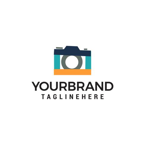 logotipo de foto de câmera modelo vector ícone do design