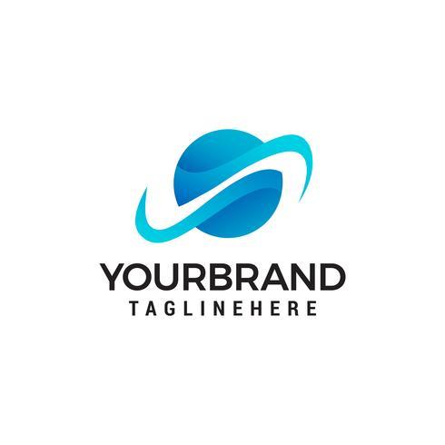 Globus Kommunikation Logo Design Konzept Vorlage Vektor