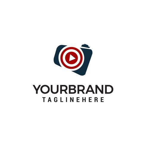 Jouer à la caméra Logo Template design