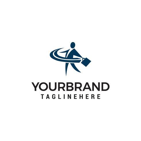 zakenman brengen tas Logo, baan zoeken concept, werving logo ontwerp vector sjabloon