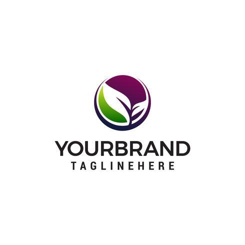 Blatt Natur Logo Design Konzept Vorlage Vektor