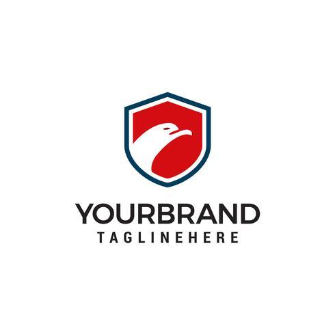 Bouclier de sécurité aigle Logo Création de modèle