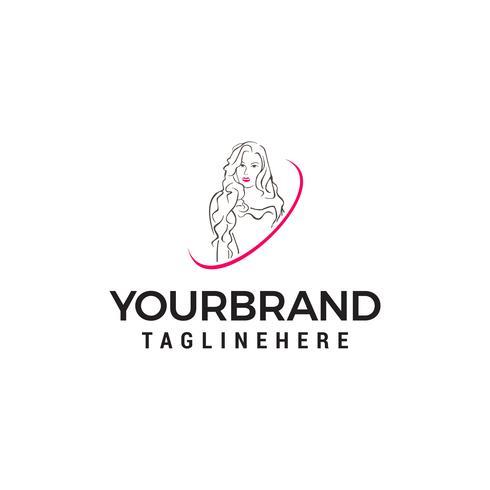 vetor de modelo de conceito de design de logotipo de mulheres de beleza