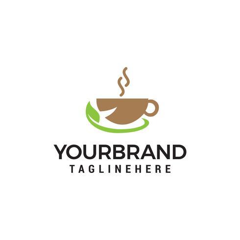 Herbal Tea och kaffe vektor ikon design