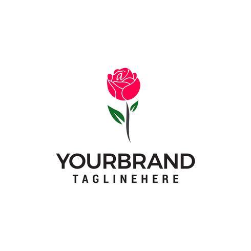 vector de plantilla de diseño de logotipo rosa concepto