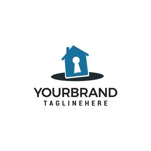 hus nyckel logo design koncept mall vektor