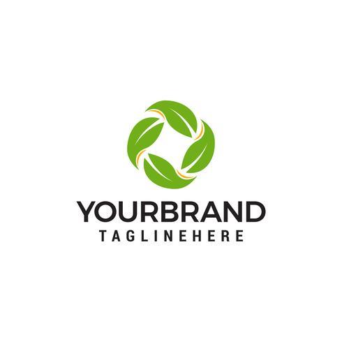 Recycler le logo fabriqué à partir de feuilles logo design concept template vecteur