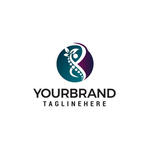 soins du corps logo design concept template vecteur
