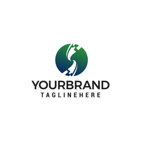 Logotipo de Letter S Pixel, vector de concepto de tecnología y diseño de logotipo digital