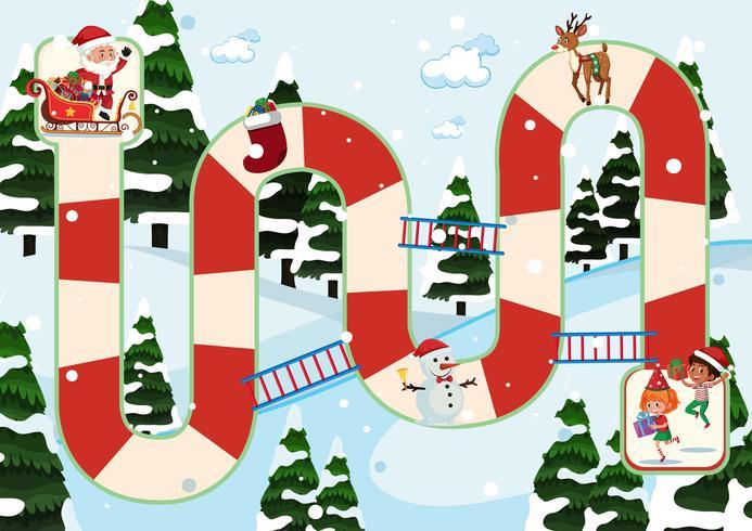 Christmas themed board game