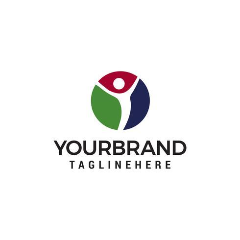 vector de plantilla de concepto de diseño de logotipo de personas healty