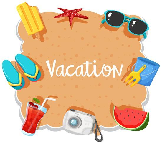Banner de férias de praia no elemento