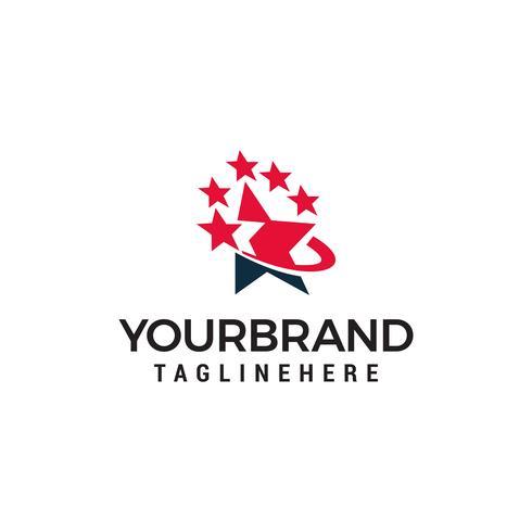 Logo estrella plantilla de diseño vector
