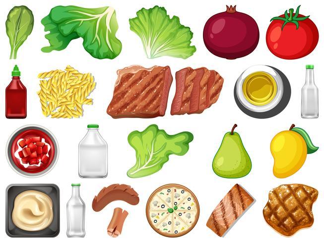 Set von Lebensmitteln