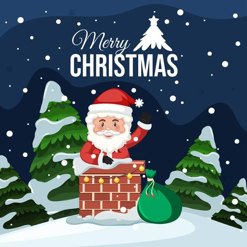 Feliz navidad santa tarjeta