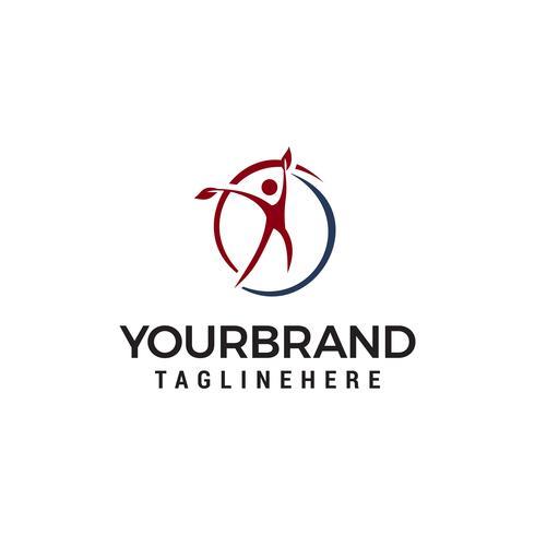 Concetto di design del logo persone vita sana