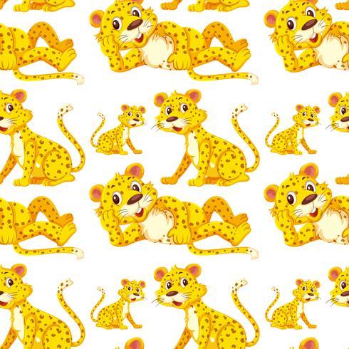 Leopardo en patrón transparente vector